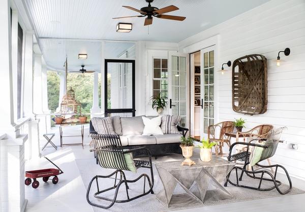 Interior of the porch