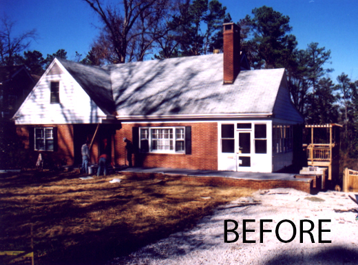 Photo of the house before