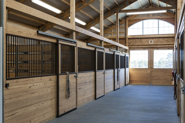 Interior of the stables