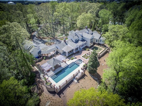 Arial photo of the property including pool